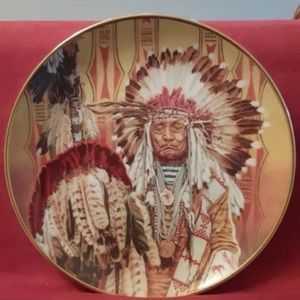 CHIEF Of The Piegon Blackfoot Decorative Plate